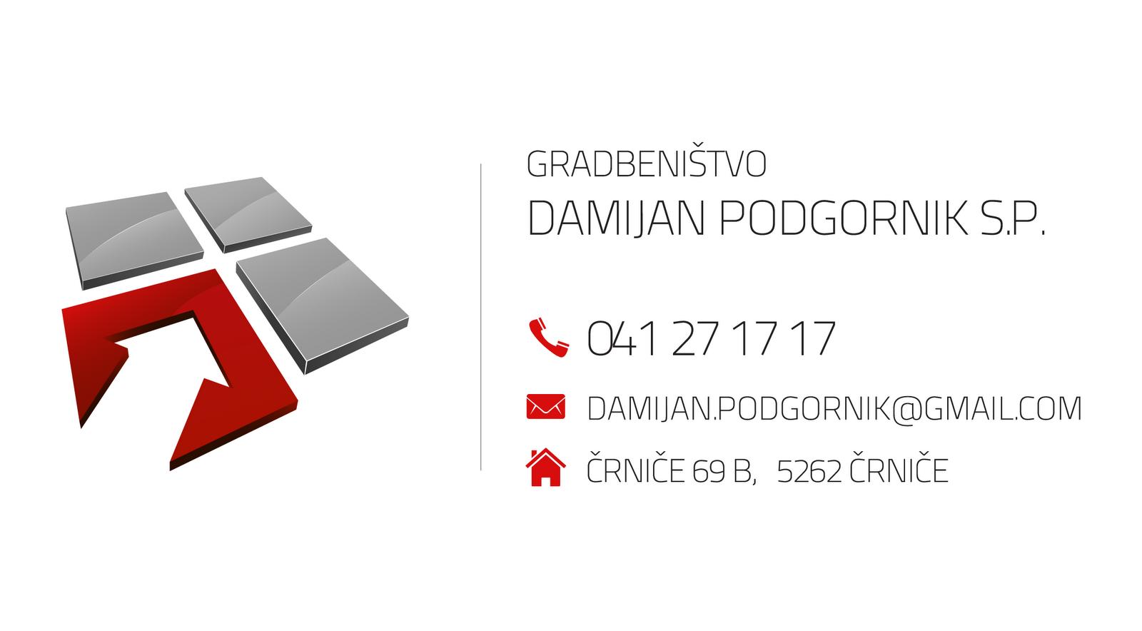 Business card for Damijan Podgornik v2