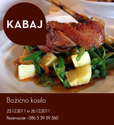 Kabaj advertising: Xmas lunch