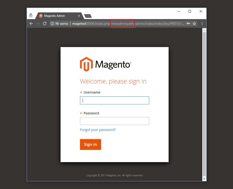Change Magento 2 Admin URL