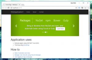 .NET Core Web App Docker Browser
