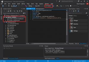 .NET Core Web App Docker solution
