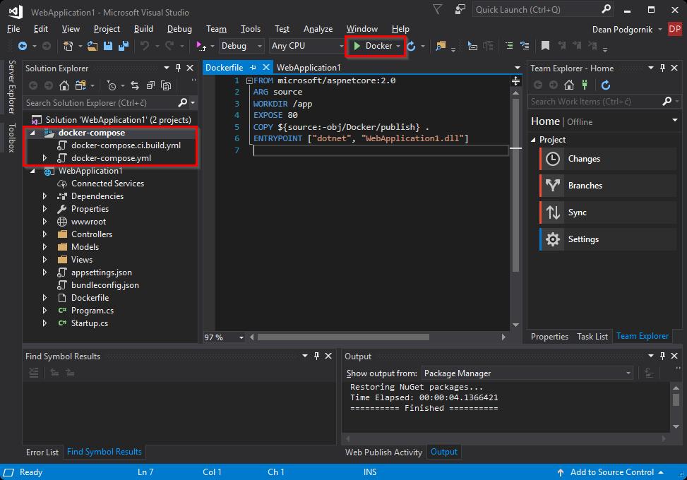 net-core-web-app-docker-solution